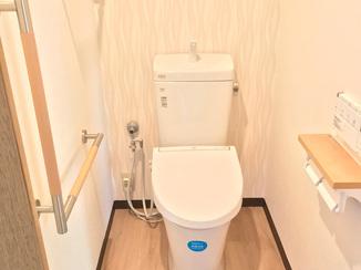 トイレリフォーム 窓が無くても明るい!開放感のあるトイレ空間