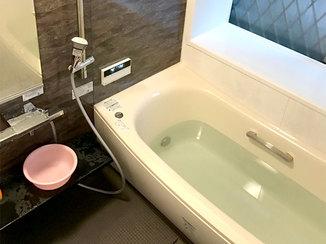 バスルームリフォーム ゆったりと入浴ができ、お掃除も楽々な浴室