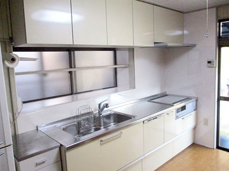 キッチンリフォーム IHでお掃除が楽々できる使い勝手の良いキッチン