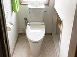トイレリフォーム掃除がしやすく、節水になったトイレ