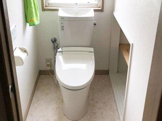 トイレリフォーム 掃除がしやすく、節水になったトイレ