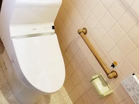 トイレリフォームクッションフロアの床で掃除がしやすいトイレ