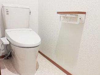 トイレリフォーム 2部屋のトイレをつなげて広くなったトイレ